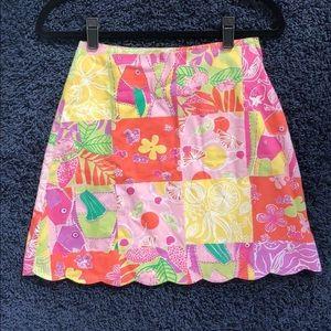 Girls Lilly Pulitzer scalloped skirt size 14